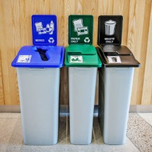 Large Indoor Waste & Recycling Station