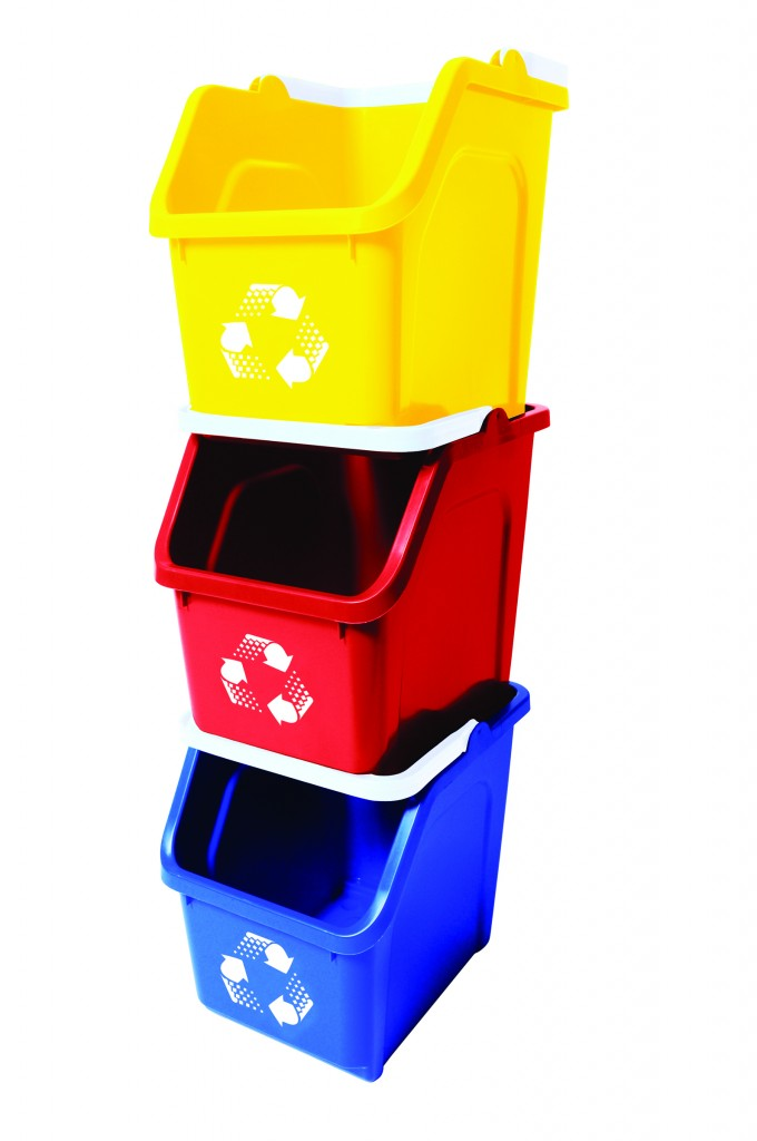 Red and blue are the new green using color to encourage recycling with kids busch systems - Recycle containers for home use ...