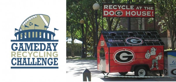 Game Day Recycling Dog House