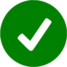 green check input icon
