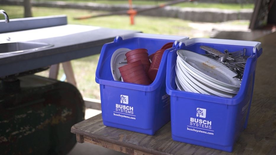 Busch Systems Multi-Recyclers used to transport dishes at the festival