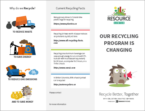 Our Recycling Program Is Changing Leaflet