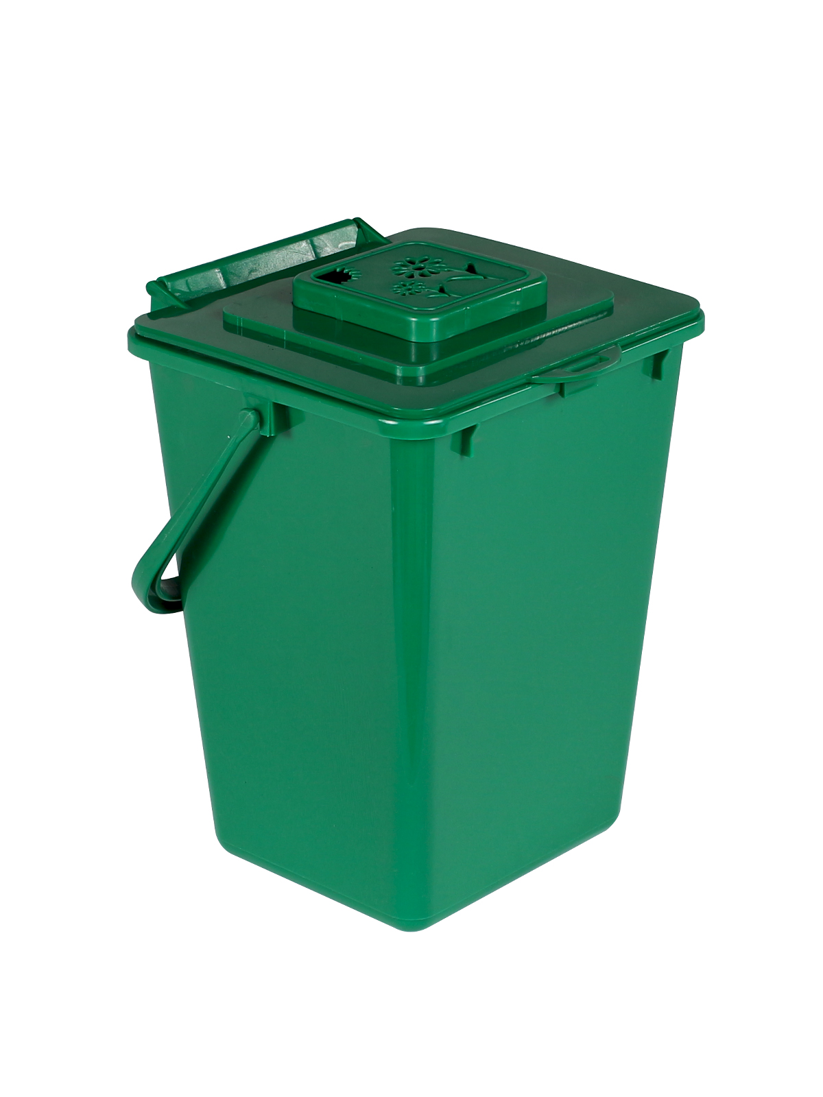 KITCHEN COMPOSTER   KC2000   VENTED LID, FLOWER CAGE W/FILTER   COMPOST  GREEN