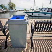 Durable Outdoor Waste & Recycling Bin