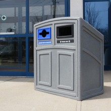 Outdoor Recycling & Waste Station