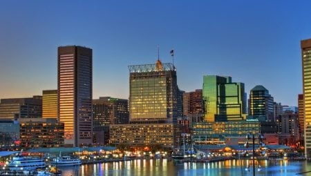 Baltimore Inner Harbor Sunset