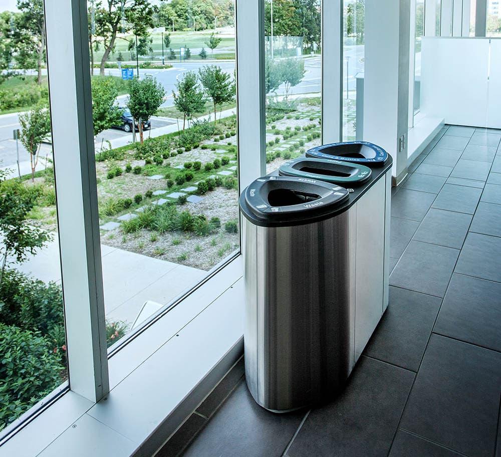 Boka Stainless Steel Recycle & Waste Bin   Busch Sytems USA
