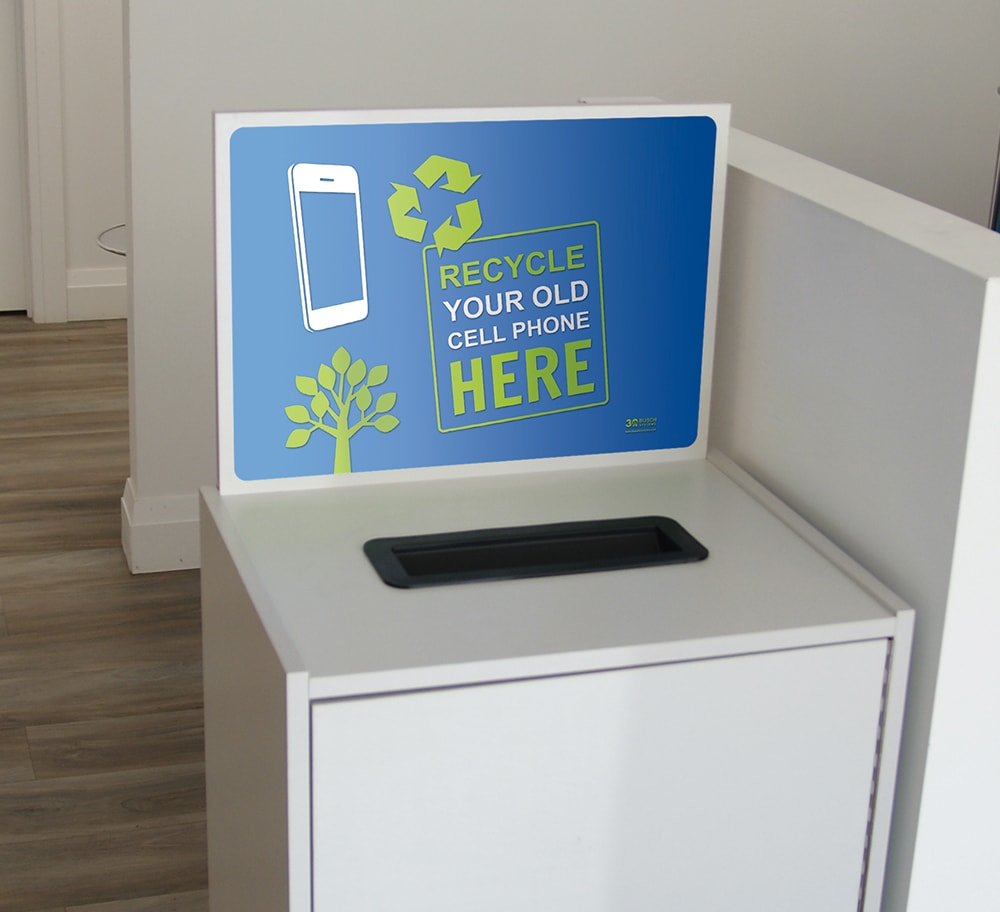 Cell Phone Recycler Collection Bin | Busch Systems USA
