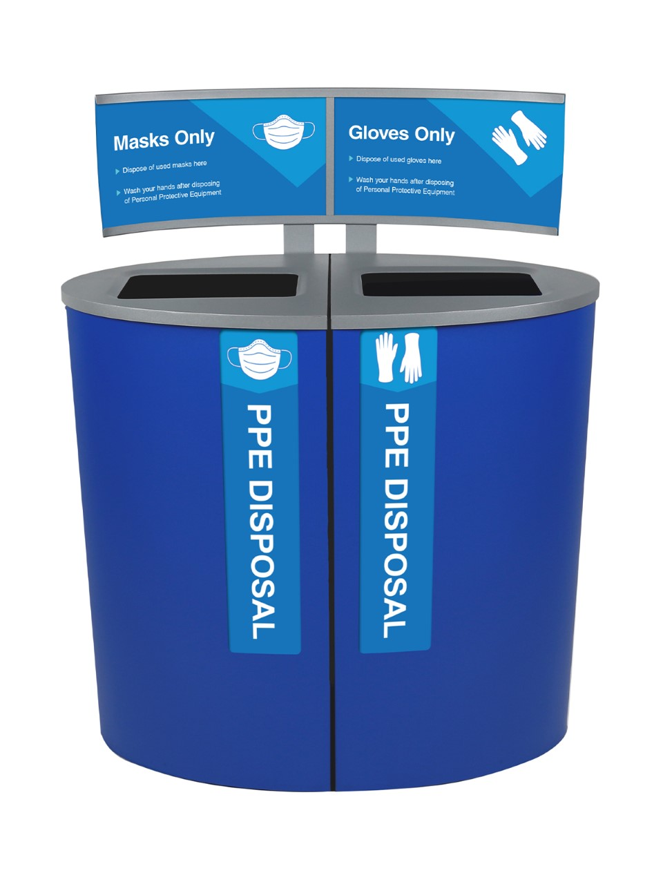 Spectrum® Ellipse PPE Disposal Station with Signage